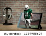 football player with a green... | Shutterstock . vector #1189955629