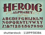 a classic vintage styled... | Shutterstock .eps vector #1189958386