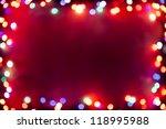 Purple Bokeh Lights Frame
