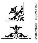 ornate  vintage corner design | Shutterstock .eps vector #1189966453