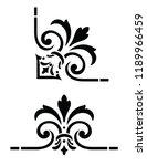 ornate  vintage corner design | Shutterstock .eps vector #1189966459