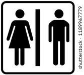 toilet sign vector | Shutterstock .eps vector #1189967779