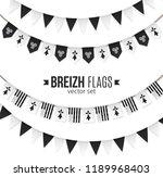 set of black and white vector... | Shutterstock .eps vector #1189968403