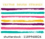 scribble ink brush strokes... | Shutterstock .eps vector #1189968826