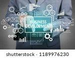 business concept. businessman... | Shutterstock . vector #1189976230