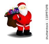 santa with bag of presents | Shutterstock . vector #118997698