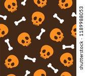 seamless halloween pattern with ... | Shutterstock .eps vector #1189988053