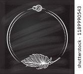 vector round dotted frame frame ... | Shutterstock .eps vector #1189990543