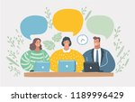 vector cartoon illustration of... | Shutterstock .eps vector #1189996429