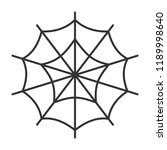 spider web thin line icon.... | Shutterstock .eps vector #1189998640
