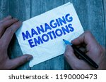 text sign showing managing... | Shutterstock . vector #1190000473