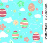 seamless pattern with easter... | Shutterstock .eps vector #1190008006
