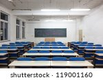 Empty Classroom With Blank...