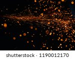 light from cutting steel  | Shutterstock . vector #1190012170
