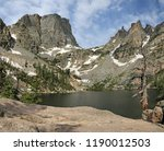 emerald lake with the hallett... | Shutterstock . vector #1190012503