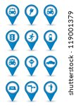 taxi icons over white...   Shutterstock .eps vector #119001379