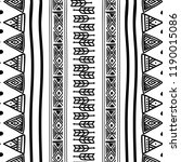 aztec seamless pattern with... | Shutterstock .eps vector #1190015086