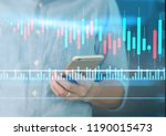 man hand holding smartphone... | Shutterstock . vector #1190015473