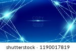 abstract pattern wireframe... | Shutterstock .eps vector #1190017819