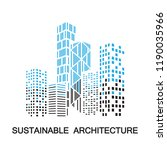 sustainable architecture... | Shutterstock .eps vector #1190035966