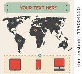 world map | Shutterstock .eps vector #119004550