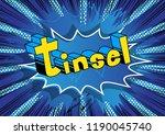 tinsel   vector illustrated... | Shutterstock .eps vector #1190045740
