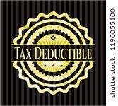 tax deductible golden emblem | Shutterstock .eps vector #1190055100