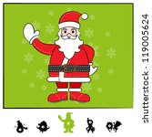 Characters Christmas : Santa Claus Comic Style - stock vector