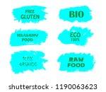 organic  bio  eco  natural... | Shutterstock .eps vector #1190063623