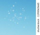 sparse snowfall christmas... | Shutterstock .eps vector #1190065660