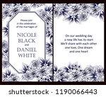 vintage delicate greeting... | Shutterstock .eps vector #1190066443