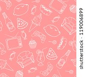 seamless pattern of unhealthy... | Shutterstock .eps vector #119006899