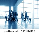 passenger in the shanghai... | Shutterstock . vector #119007016