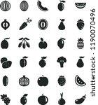 solid black flat icon set apple ... | Shutterstock .eps vector #1190070496