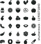 solid black flat icon set... | Shutterstock .eps vector #1190071840