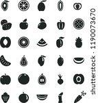 solid black flat icon set beet...   Shutterstock .eps vector #1190073670