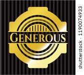 generous golden badge or emblem | Shutterstock .eps vector #1190074933