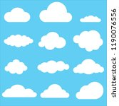 set of clouds. clouds icon on...