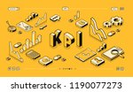 kpi business performance... | Shutterstock .eps vector #1190077273
