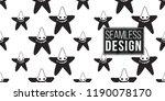 halloween seamless pattern with ...   Shutterstock .eps vector #1190078170