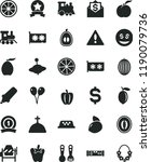 solid black flat icon set... | Shutterstock .eps vector #1190079736