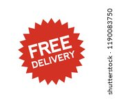 free delivery button sign | Shutterstock .eps vector #1190083750