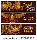 golden eagle symbolizing power... | Shutterstock .eps vector #1190095153