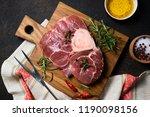 raw fresh beef steak osso bucco ... | Shutterstock . vector #1190098156