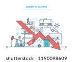 concept of oil crisis. oil... | Shutterstock . vector #1190098609