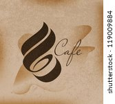cafe sign  cafe menu  coffee... | Shutterstock .eps vector #119009884