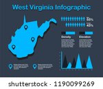 west virginia state  usa  map...   Shutterstock .eps vector #1190099269