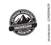 snowboard logo  vector...   Shutterstock .eps vector #1190099629