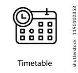 calendar with clock  timetable... | Shutterstock .eps vector #1190102353