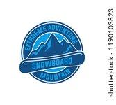 snowboard logo  vector... | Shutterstock .eps vector #1190103823